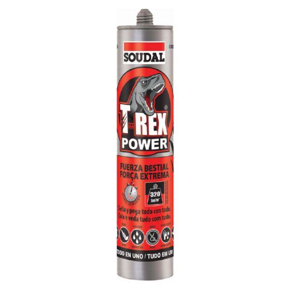Adhesivo sellador T-REX POWER. 290 ML. Gris