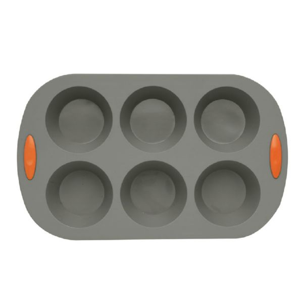 Habitex. Molde 6 muffins silicona 8,8x4,2 cm.